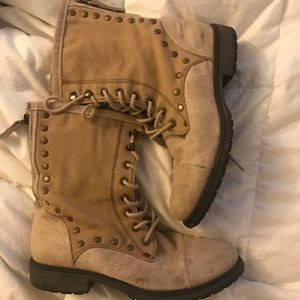Roxy combat boots size 8